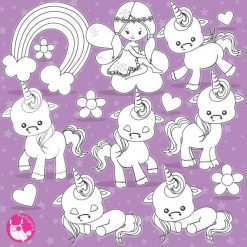 Baby unicorn stamps