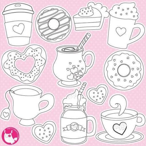 Valentine drinks stamps