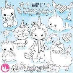 Wannabe unicorn stamps