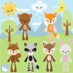 Animal plushies clipart