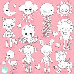 Dream plushy stamps