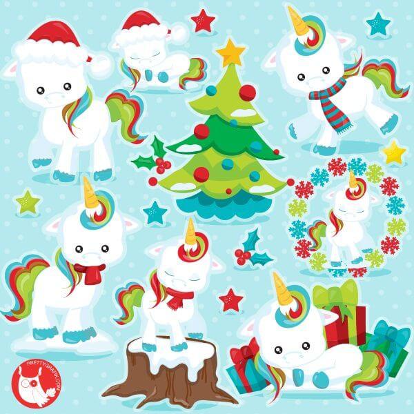 Christmas unicorn clipart - Prettygrafik Store (600 x 600 Pixel)