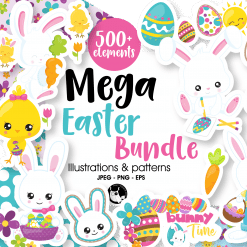 mega easter bundle graphics