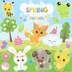 spring friends clipart