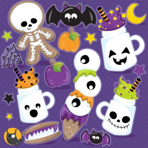 Halloween treats clipart graphics