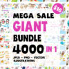 Gaint bundle 4000 in 1 jpeg png vector illustrations