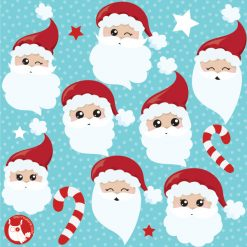 Christmas Cute Santa Claus Clipart