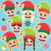 Christmas Elf Heads Clipart
