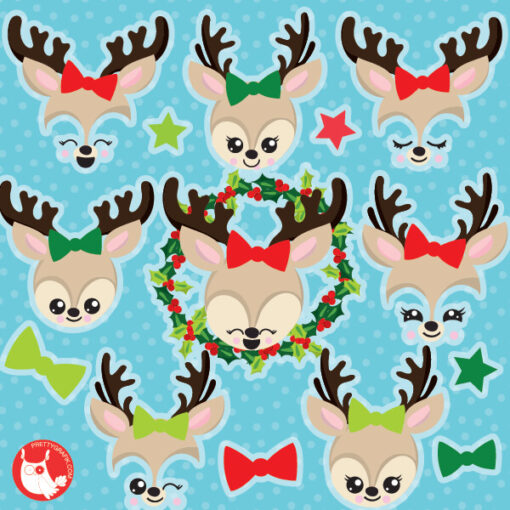 Christmas Reindeers clipart