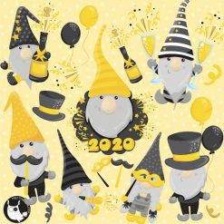 New Year Gnomes clipart