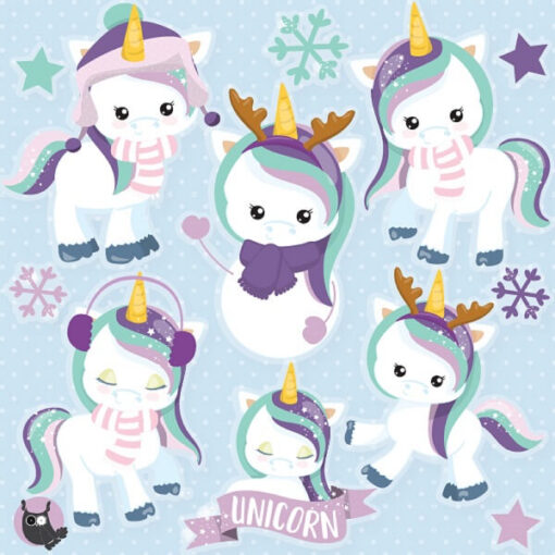 Snow Unicorn clipart
