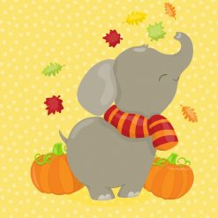 fall elephant freebie clipart