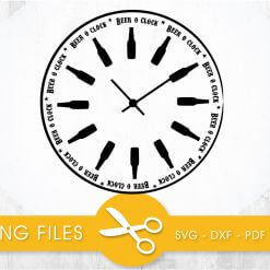 Beer clock SVG, PNG, EPS, DXF, Cut File