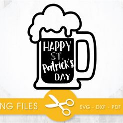 Happy St. Patrick's Day SVG, PNG, EPS, DXF, Cut File