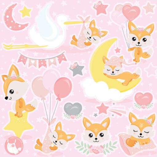 baby girl graphic clipart
