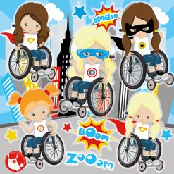 wheelchair heroes clipart