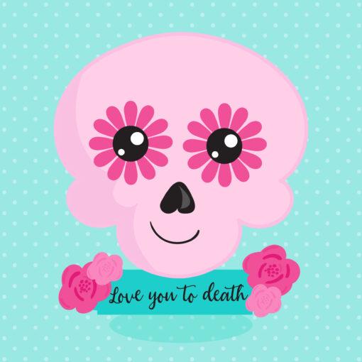 Halloween skull freebie digital clipart
